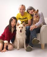 ペットと家族写真